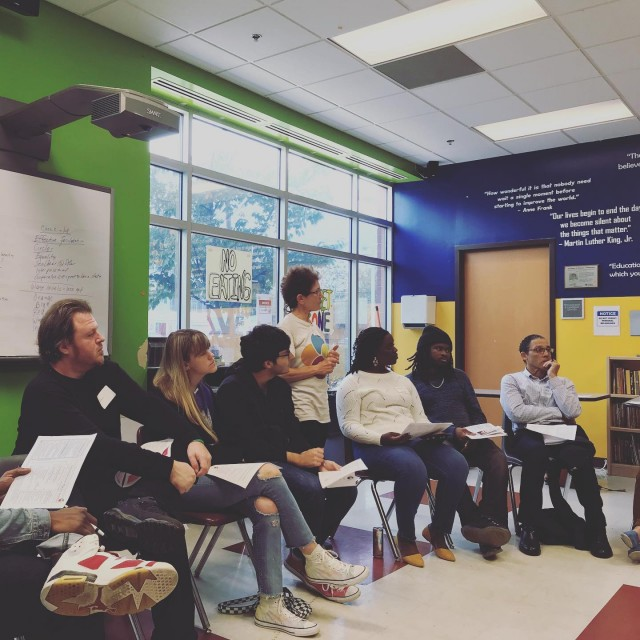 Excellent session on democratic governance by Aileen at the center for dynamic community governance. dynamiccommunitygovernance circleyogadc communitygrocerycoopdc #dccoopday